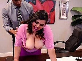 Big fat titty latina office lady pussylicked by boss